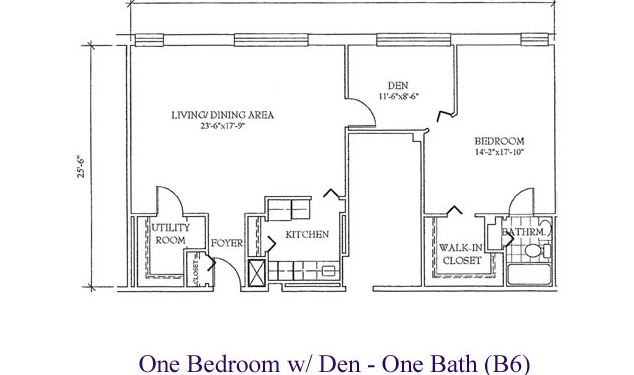 A Big Bedroom, A Bright Living Area And A Flexible Den: Perfect For An Officer's Retirement!