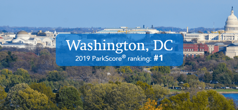 Washington, DC Receives ParkScore's Top Ranking